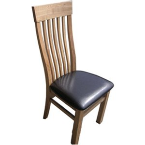 Ametis Sherwood Oak Dining Chair With Brown Seat Co4118br 5053730000999