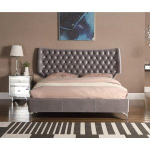 Ashbourne Velvet King Size Bed Grey Ashbksgre