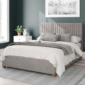 Aspire Grant Upholstered Ottoman Bed Velvet Silver King Mfp107093