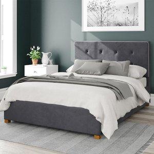 Aspire Presley Ottoman Bed Velvet Steel Single Mfp104382