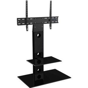 Avf Lesina Black Column Tv Stand For 32 To 65 Inch Fsl700leb