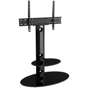 Avf Lugano Black Oval Column Tv Stand For 32 To 65 Inch Fsl800lub