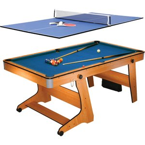 Bce 6ft Folding Pool Table With Table Tennis Top Fp 6tt 5035915038744
