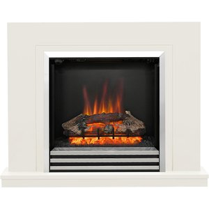Be Modern Colby 38 Electric Fireplace Suite - Soft White 5088