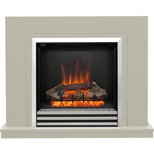 Be Modern Colby 38 Electric Fireplace Suite - Soft Stone 19372