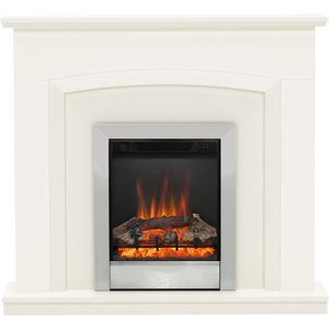 Be Modern Hayden 46 Electric Fireplace Suite - Soft White 5258