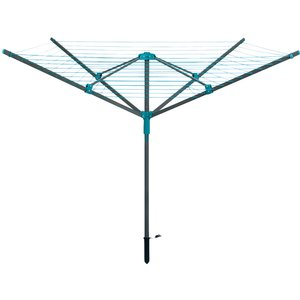 Beldray Rotary Outdoor Clothes Airer With Pegs And Ground Socket - Turquoise La059437fsdueu