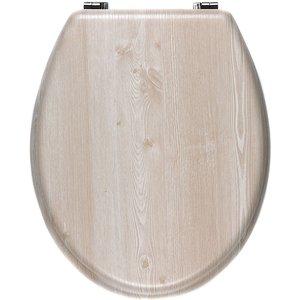 Beldray Veneer Oak Toilet Seat - White