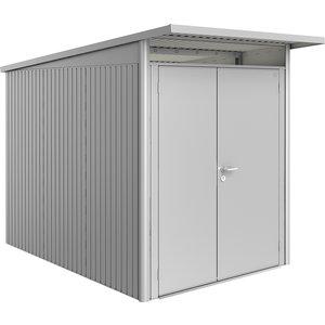 Biohort Avantgarde Metal Shed A3 Double Door 5' 9'' X 9' 8'' - Metallic Silver 15039