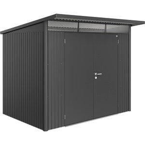 Biohort Avantgarde Metal Shed A5 Double Door 8' 5'' X 7' 2'' - Dark Grey 17059