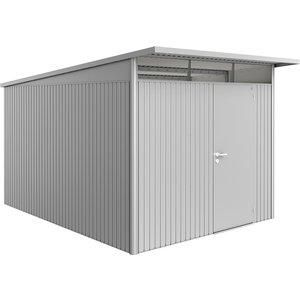 Biohort Avantgarde Metal Shed A8 Standard Door 8' 5'' X 12' 4'' - Metallic Silver 15080