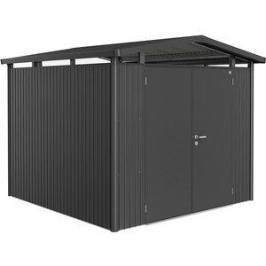 Biohort Panorama Metal Shed P4 Double Door 9' X 9' 1'' - Dark Grey 14059