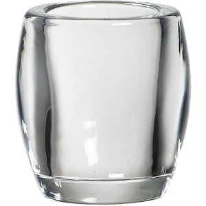 Bolsius Clear Oval Glass Candle Holder  8717847035141