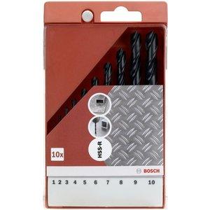 Bosch Hss-r Metal Drill Bits 10 Piece Set 3165140493215