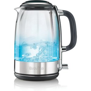 Breville Vkt071 Crystal Clear Glass Jug Kettle - Clear & Stainless Steel 5011773062039