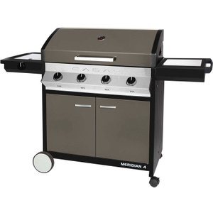 Cadac Meridian 4 Burner Grey Gas Bbq Plus Baking Stone, Reversible Plate, Warmer Pan And U 98512 11 03