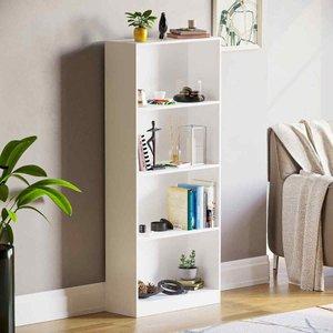 Cambridge 4 Tier Large Bookcase White 333619