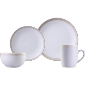 Carnaby Fenchurch Linen 16-piece Stoneware Dinner Set Crm1178mo