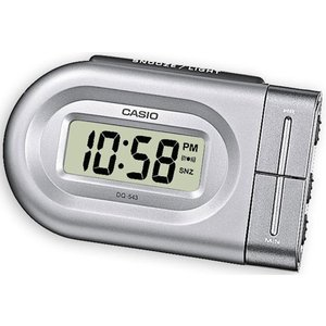 Casio Compact Digital Beep Alarm Clock - Silver Dq543/8