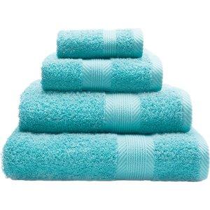 Catherine Lansfield Essentials Cotton Bath Sheet - Aqua Blue  5055184922261
