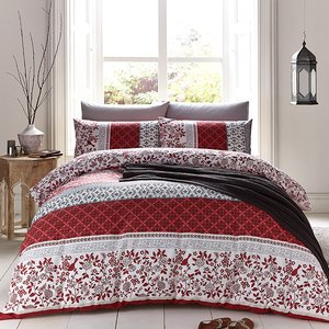 Catherine Lansfield Oriental Birds King Duvet Set - Spice  5012601503151