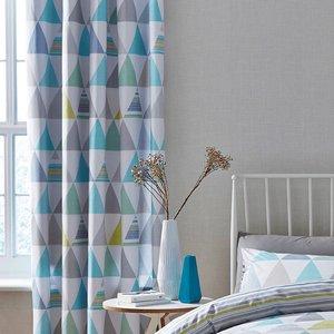 Catherine Lansfield Scandi Geo Eyelet Curtains - Patterned