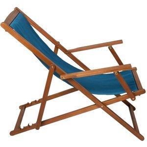 Charles Bentley Fsc Eucalyptus Deck Chair - Teal