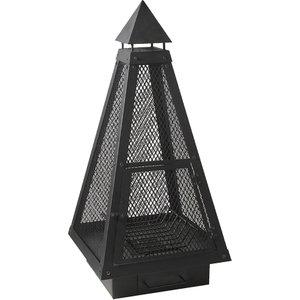 Charles Bentley Large Mesh Garden Fire Pit - Black Bbq/fp.05 5014555001875