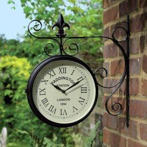 Charles Bentley Paddington Double Sided Metal Wall Clock - Black Gl/gc.04
