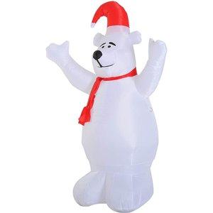 Christmas 6ft Inflatable Polar Bear Decoration With Led Lights 844 209