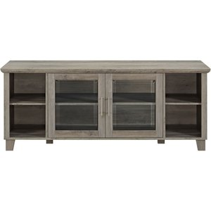 Columbus Tv Stand With Middle Doors Grey Wash Rd58co2dgw
