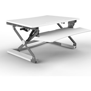 Core Products Naxos Large Sit-stand Workstation With Keyboard Tray - White Xd3wh 5060084311039