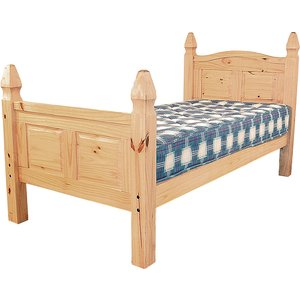 Corona King Size Bed High Footend Corobed50