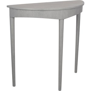 Dark Grey Pine Wood Half Moon Occasional Table 76 454 Dg