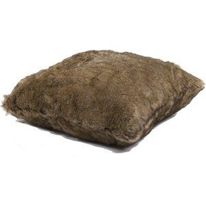 Deyongs Elgin Super Soft Faux Fur Cushion - Brown  5054990018984