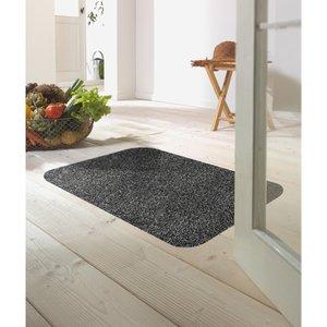 Dirt Trapper 75x150cm Gripper Backed Washable Doormat - Slate Grey D150sl