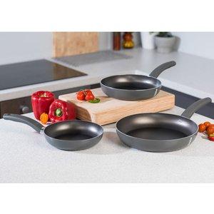 Domo Cucina Italiana Deep Non-stick Frying Pan Set - Black