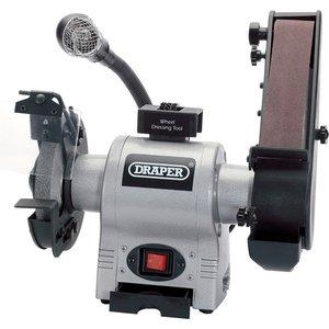 Draper 150mm 370w 230v Bench Grinder With Sanding Belt And Worklight