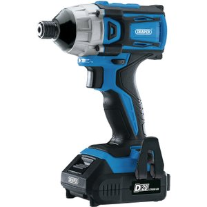 Draper D20 20v Brushless 1/4 Impact Driver With 2 X 2ah Batteries And Charger (180nm) 86958 5010559869589