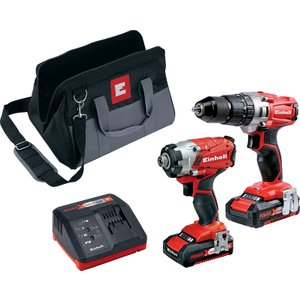 Einhell Power-x-change 18v Cordless Combi & Impact Driver Twin Pack With 2 X 2.0ah Li-ion  Einpxtwin2 4006825614817