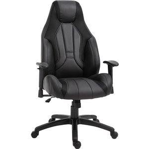 Equinox Poise Pu Leather Office Gaming Chair - Black 921 287bk