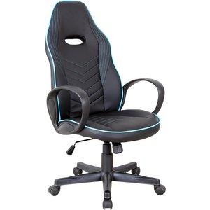 Equinox Pursuit Pu Leather Gaming Chair - Black/blue 921 167v70bu
