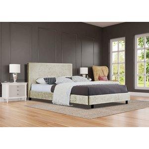 Ezekiel Single Bed Frame - Cream  5057289855710