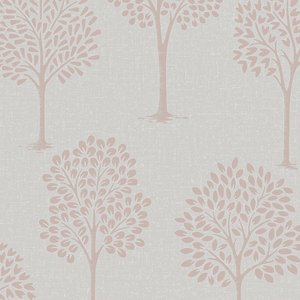 Fine Decor Fine Décor Quartz Tree Wallpaper - Rose Gold