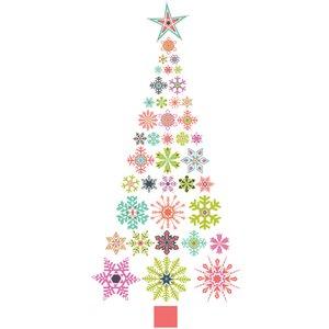 Fine Decor Wall Pops 'snowflake Christmas Tree' Large Wall Sticker Dwpk2212