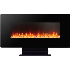 Focal Point Fires Columbus Wall Hung Electric Fire - Black Fpfrd07013