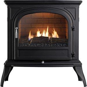 Focal Point Fires Dalvik Cast Gas Stove - Black Fpfrd05019