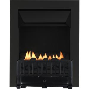 Focal Point Fires Farlam Flueless Inset Gas Fire - Black