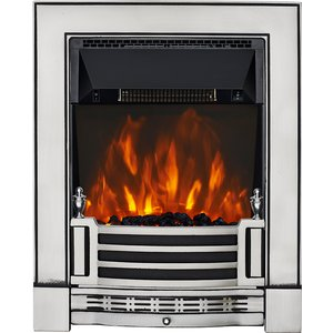 Focal Point Fires Finsbury Cast Led Electric Fire - Chrome Fpfrd06014