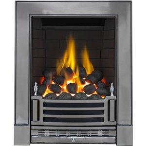Focal Point Fires Finsbury Full Depth Gas Fire - Chrome Fpfrd00701